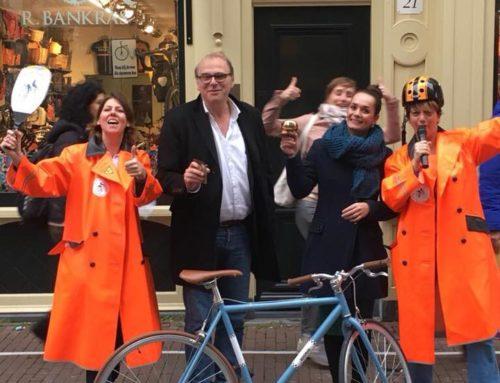 AT5 item: Wedstrijdje sloom fietsen om hardrijders amsterdam centrum te verminderen