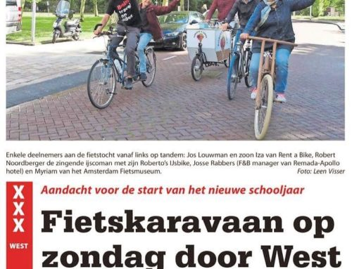 Onze Amsterdam Summer Bike Parade in Stadsblad de Echo
