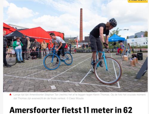 Reportage NK Slowbiking Finale 2019 door het AD Amersfoort